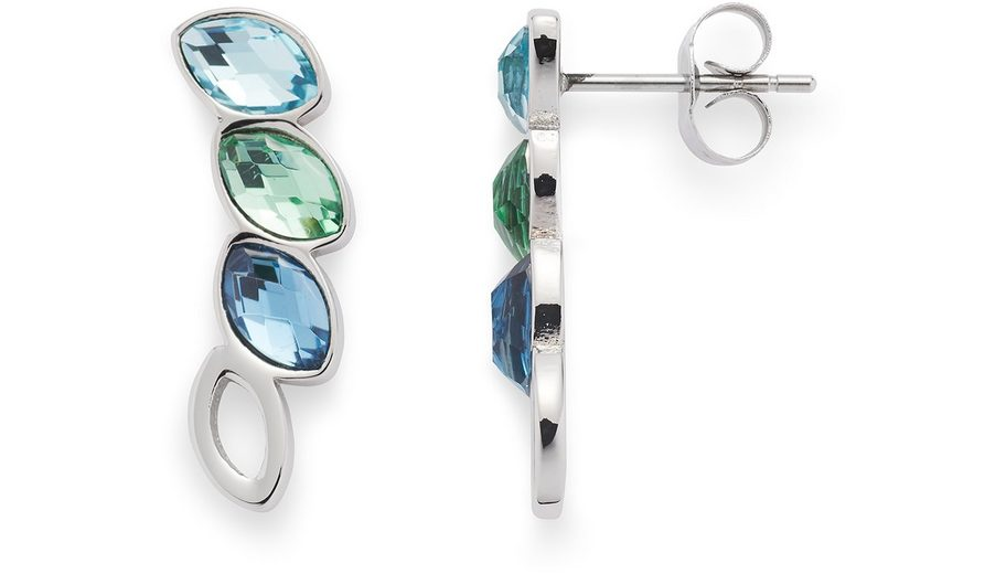 Jewels by Leonardo Paar Ohrstecker mit Glassteinen, »lamina, 015839«