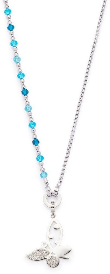 Jewels by Leonardo Schmuckset mit Glassteinen und Kristallsteinen, »darlins's creativa, 015944« in silberfarben-blau