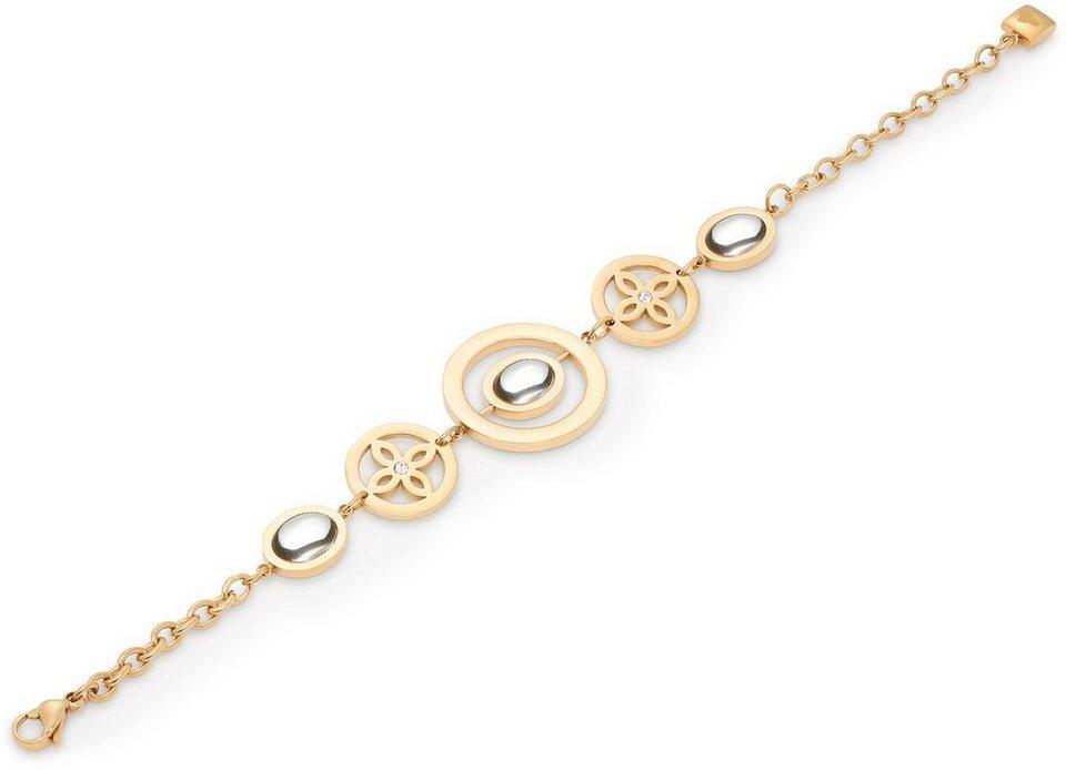 Jewels by Leonardo Armband mit Glassteinen und Kristallsteinen, »sogno, 015850« in goldfarben