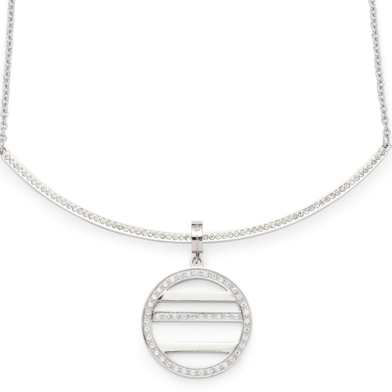 Jewels by Leonardo Kette mit Charm-Einhänger mit Kristallsteinen, »minimo, 015862«