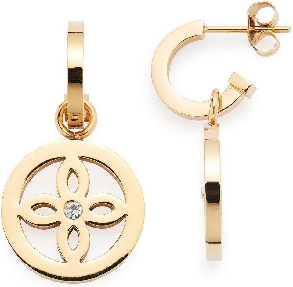 Jewels by Leonardo Paar Ohrstecker mit abnehmbarem Einhänger und Kristallsteinen, »sogno, 015851« in goldfarben