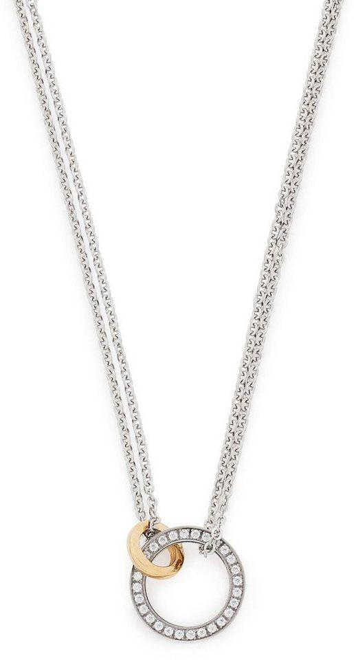 Jewels by Leonardo Kette mit Kristallsteinen, »darlin's collegare, 015901« in silberfarben-goldfarben