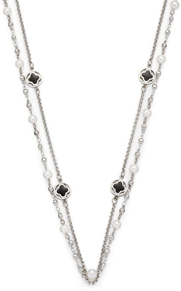 Jewels by Leonardo Kette mit Muschelperlen, »opulento, 015825« in silberfarben-schwarz
