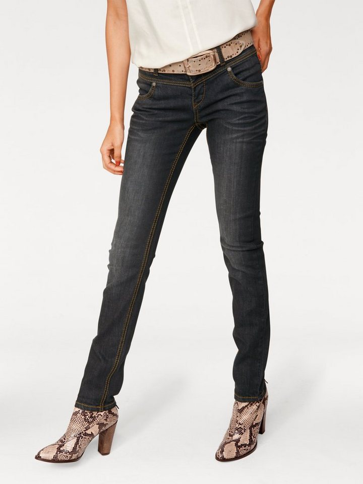 PATRIZIA DINI by Heine Skinny-Jeans in black denim