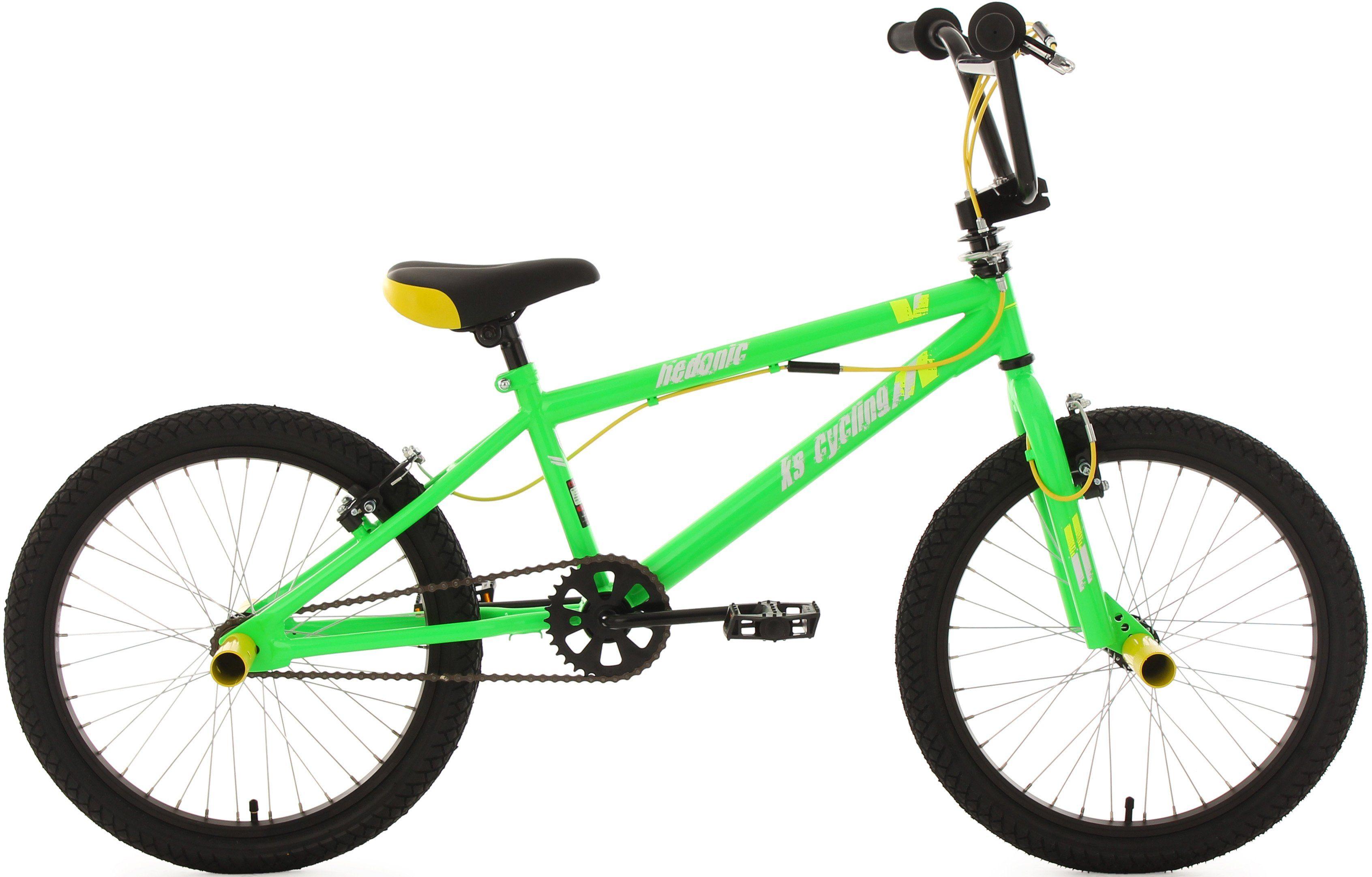 KS Cycling BMX Fahrrad, 20 Zoll, grün-gelb, »Hedonic«