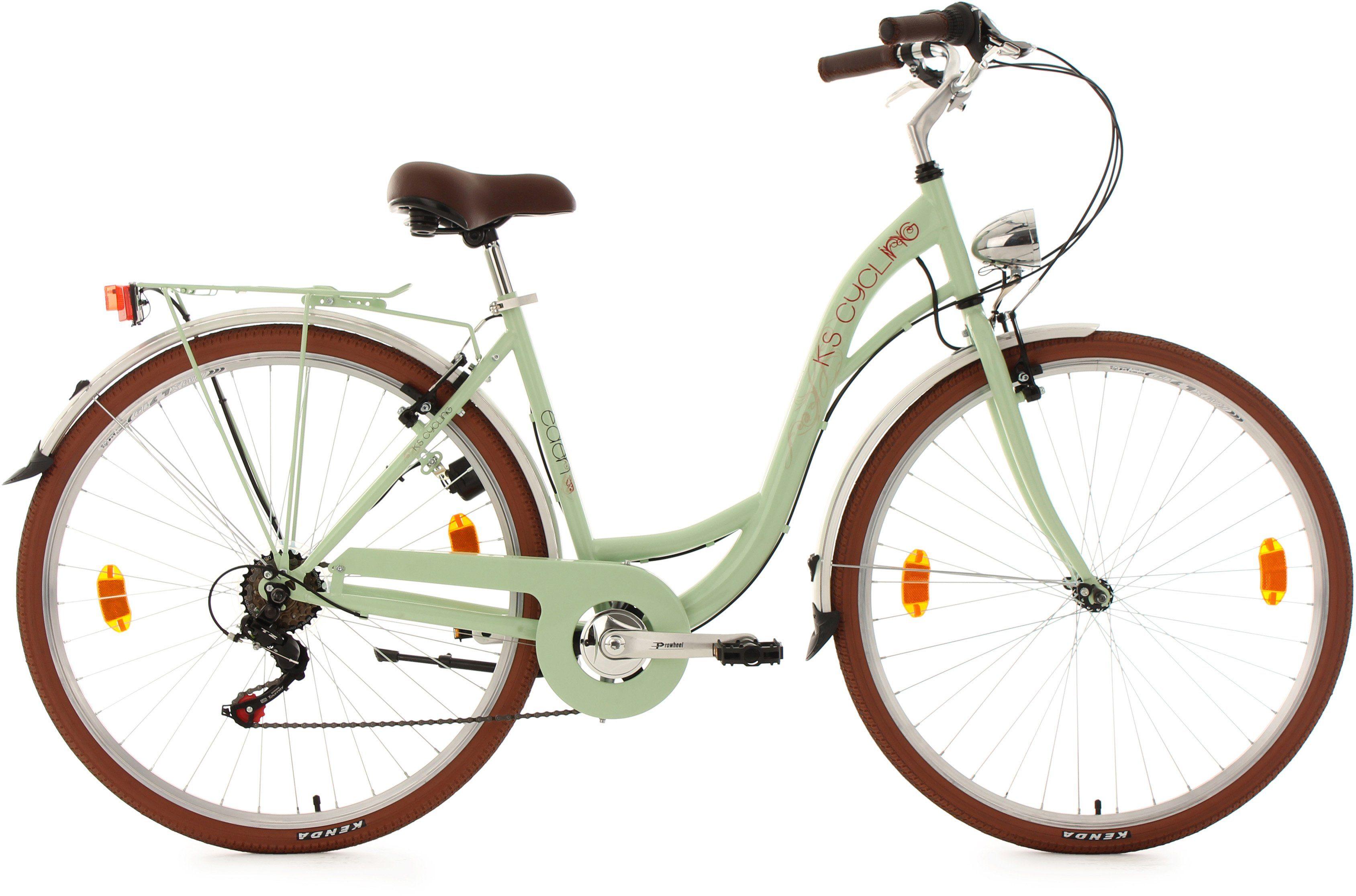 KS Cycling Damen-Cityrad, 28 Zoll, mint, Shimano 6 Gang-Kettenschaltung, »Eden«
