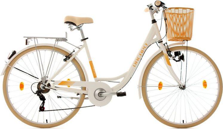 KS Cycling Cityrad »Cantaloupe«, 6 Gang Shimano Tourney RD-TZ 50 Schaltwerk, Kettenschaltung