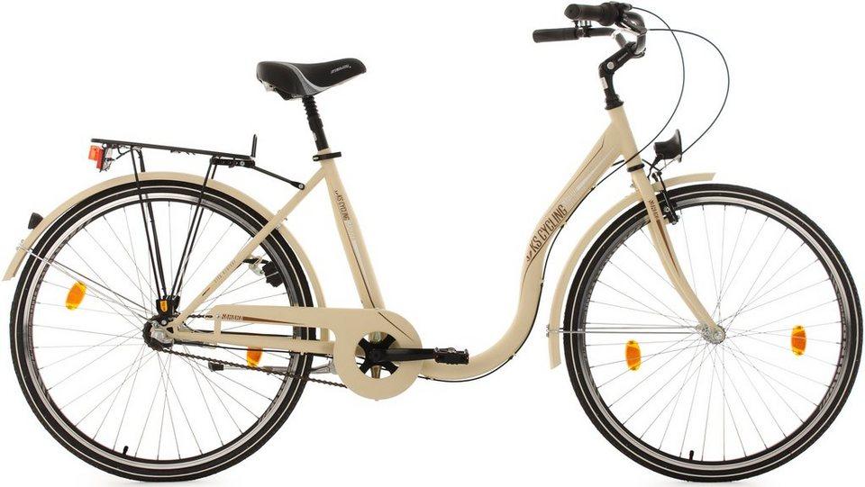 KS Cycling Damen-Cityrad, 28 Zoll, beige, 3 Gang-Nabenschaltung, »Sahara« in beige
