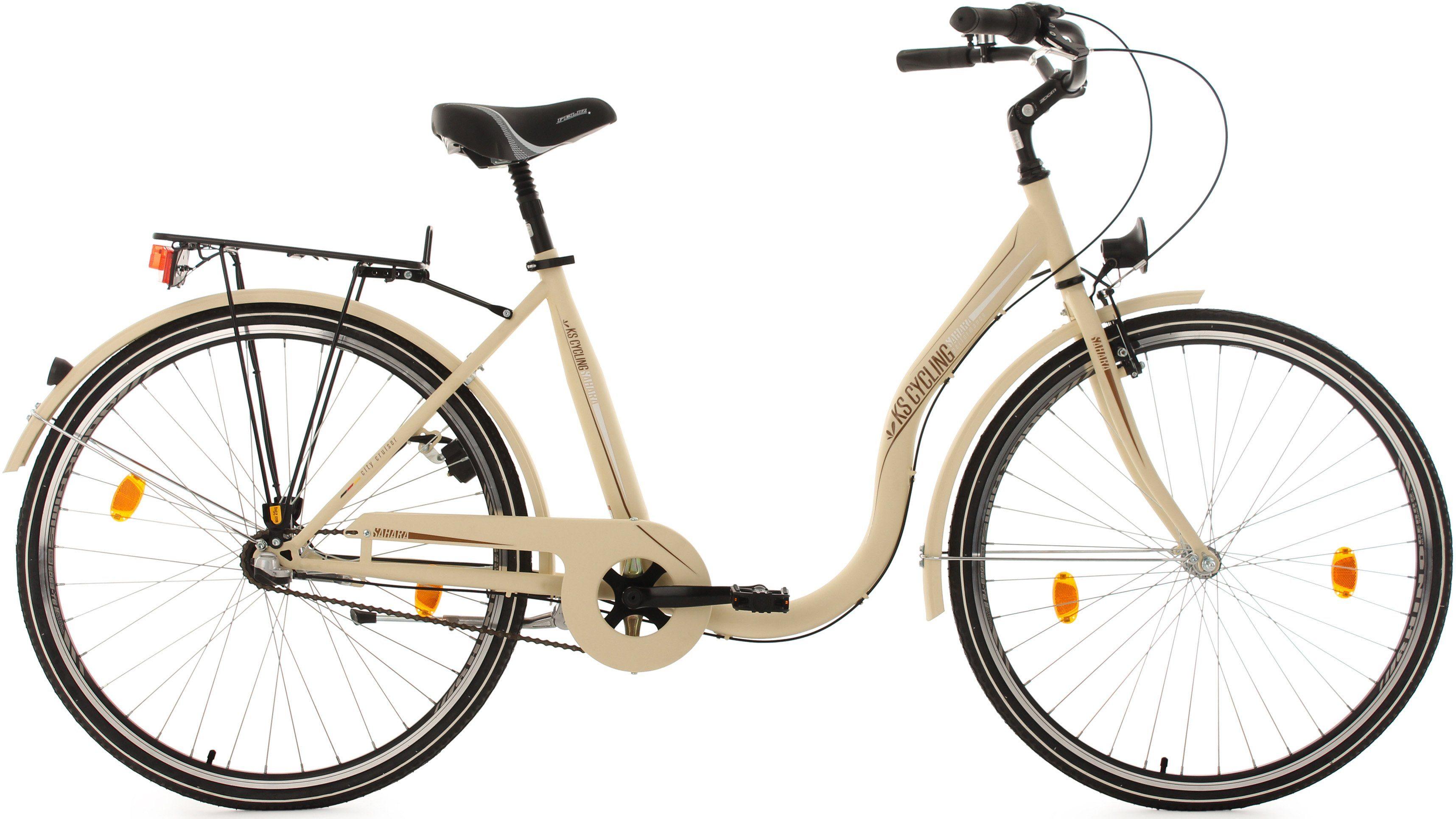 KS Cycling Damen-Cityrad, 28 Zoll, beige, 3 Gang-Nabenschaltung, »Sahara«