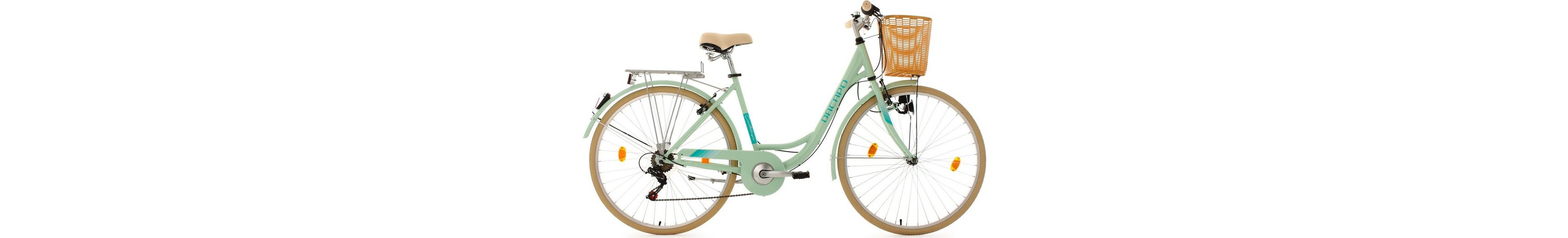 KS Cycling Damen-Cityrad, 28 Zoll, mint, Shimano 6 Gang-Kettenschaltung, »Cantaloupe«