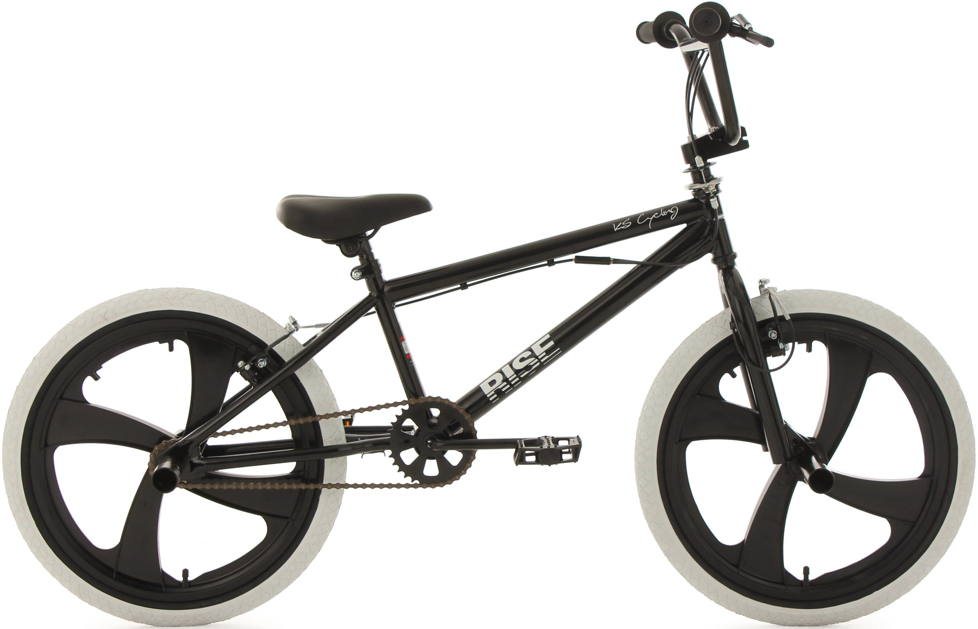 KS Cycling BMX Fahrrad, 20 Zoll, schwarz-weiß, »Rise«