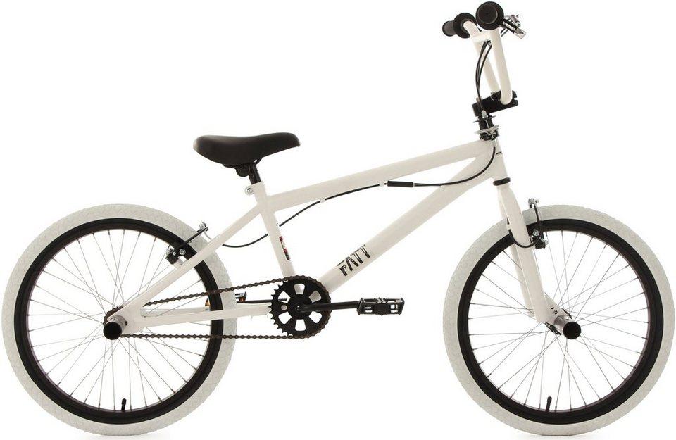 KS Cycling BMX Fahrrad, weiß-schwarz, 20 Zoll, »Fatt« in weiß-schwarz