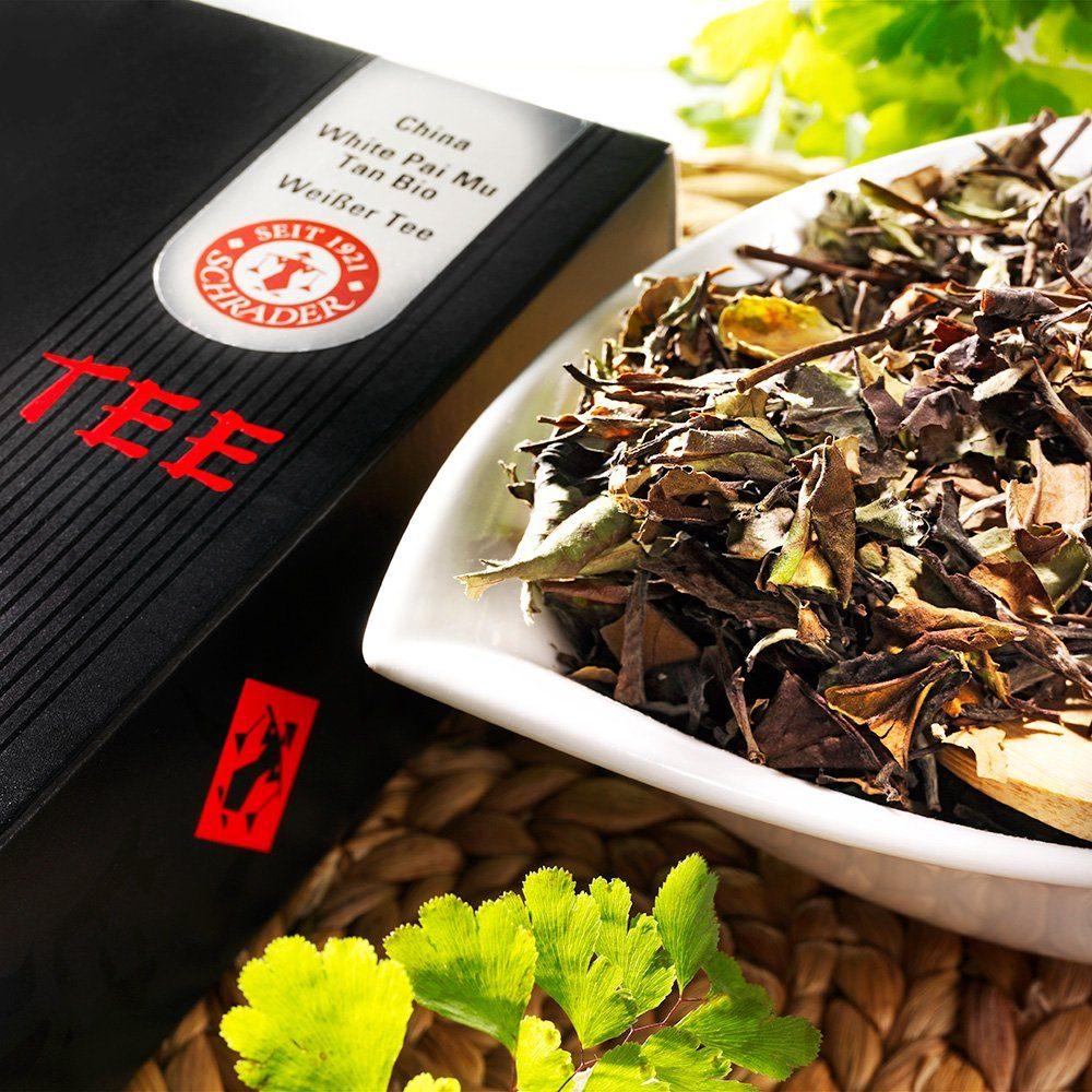 Schrader Weißer Tee China White Pai Mu Tan Bio