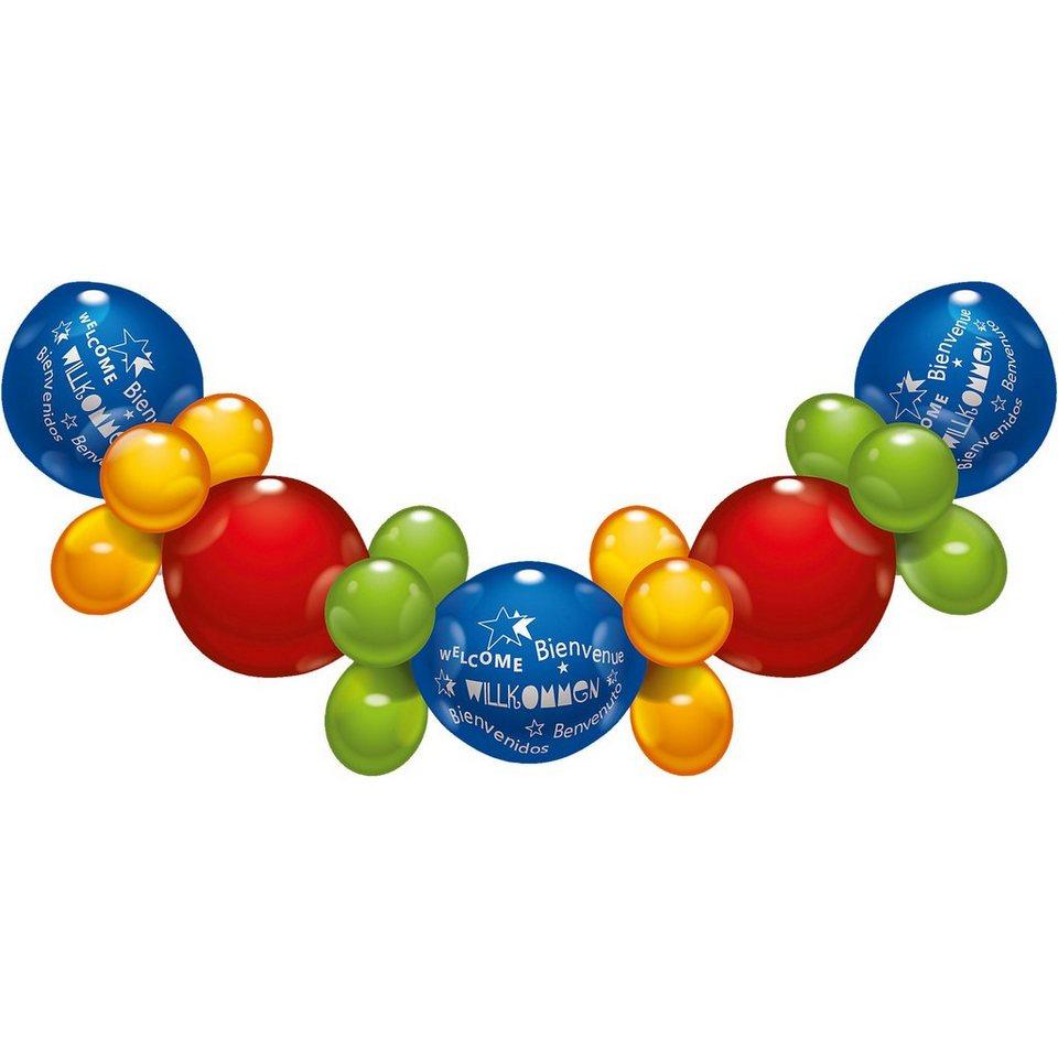 Karaloon Ballon-Set Willkommen, 32 Stück