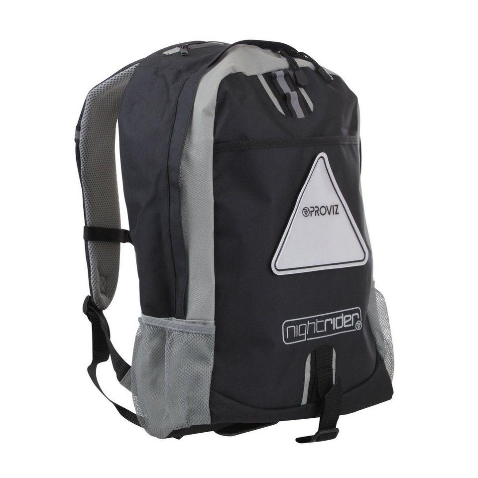 ProViz Sport- und Freizeittasche »Nightrider Rucksack 30 L« in schwarz
