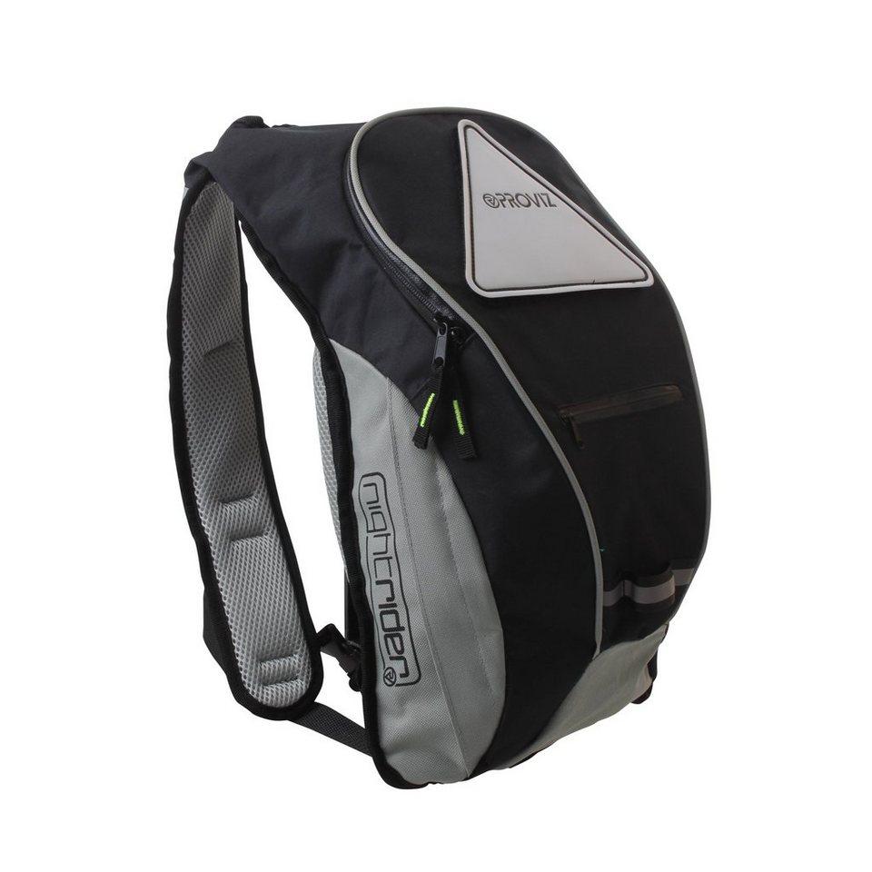 ProViz Sport- und Freizeittasche »Nightrider Rucksack 10 L« in schwarz