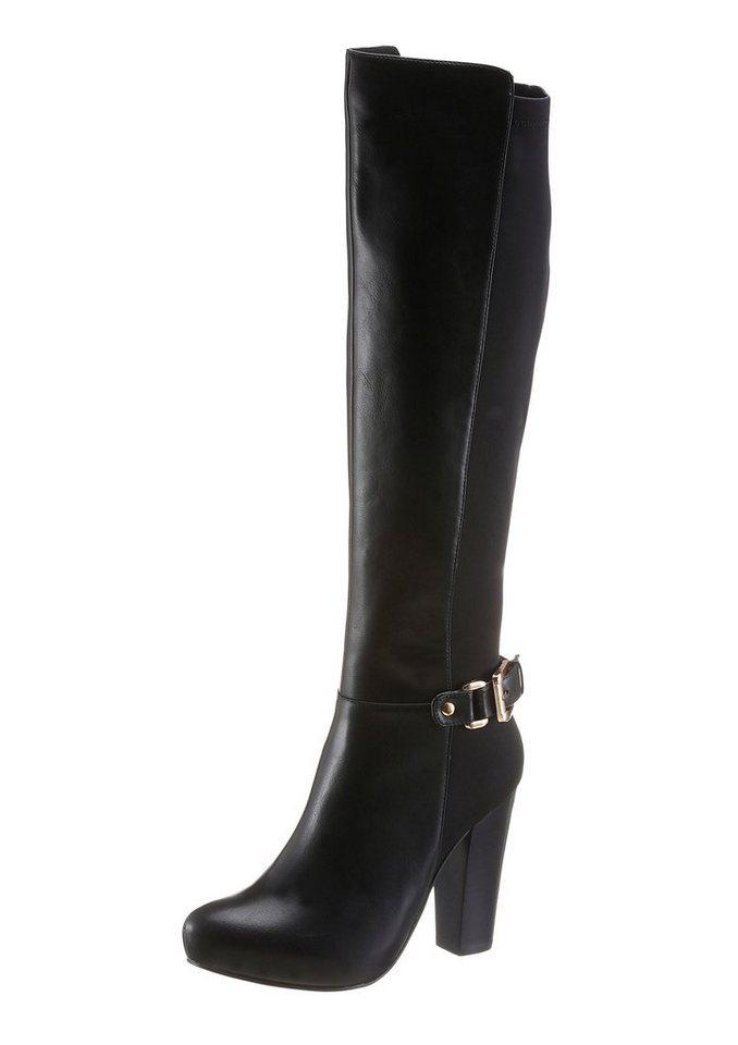 Buffalo Stiefel mit High Heel Absatz in schwarz