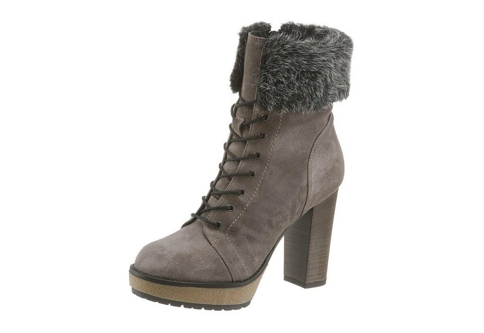 Manas High-Heel-Stiefelette in taupe