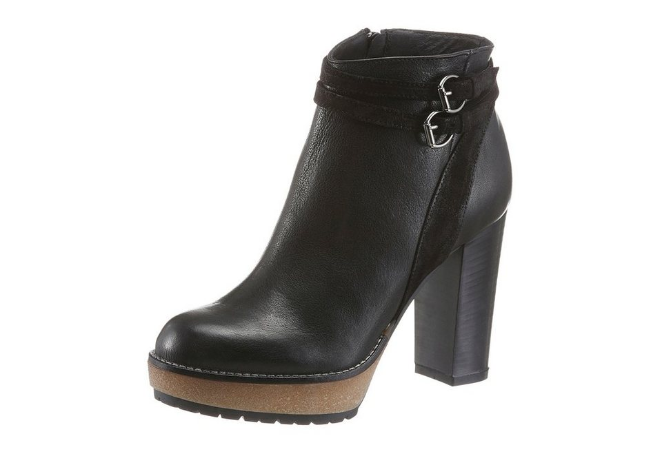 Manas High-Heel-Stiefelette in schwarz