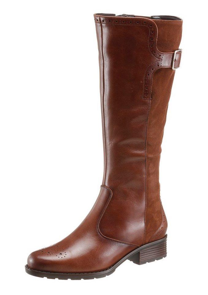 Ara Stiefel mit regulierbarer Weite von Normal bis XL in braun