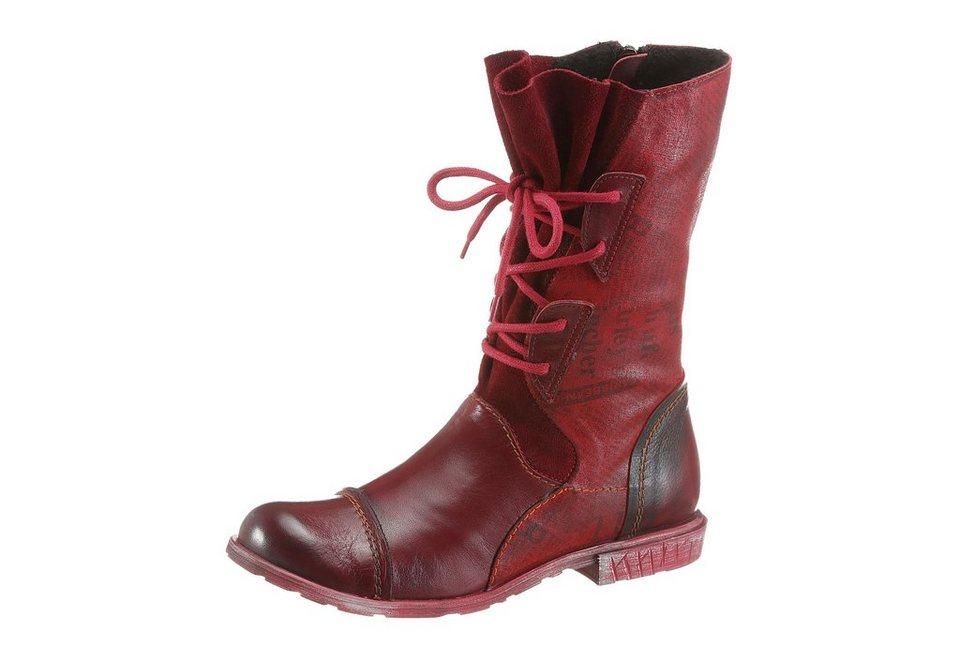 Simen Stiefel mit kurzem Schaft in rot