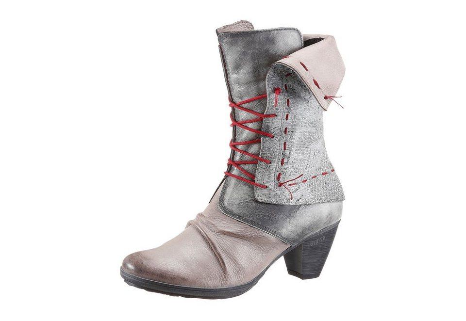 Simen Stiefel mit kurzem Schaft in grau-taupe