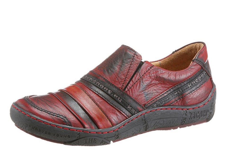 KACPER Slipper in rot-schwarz