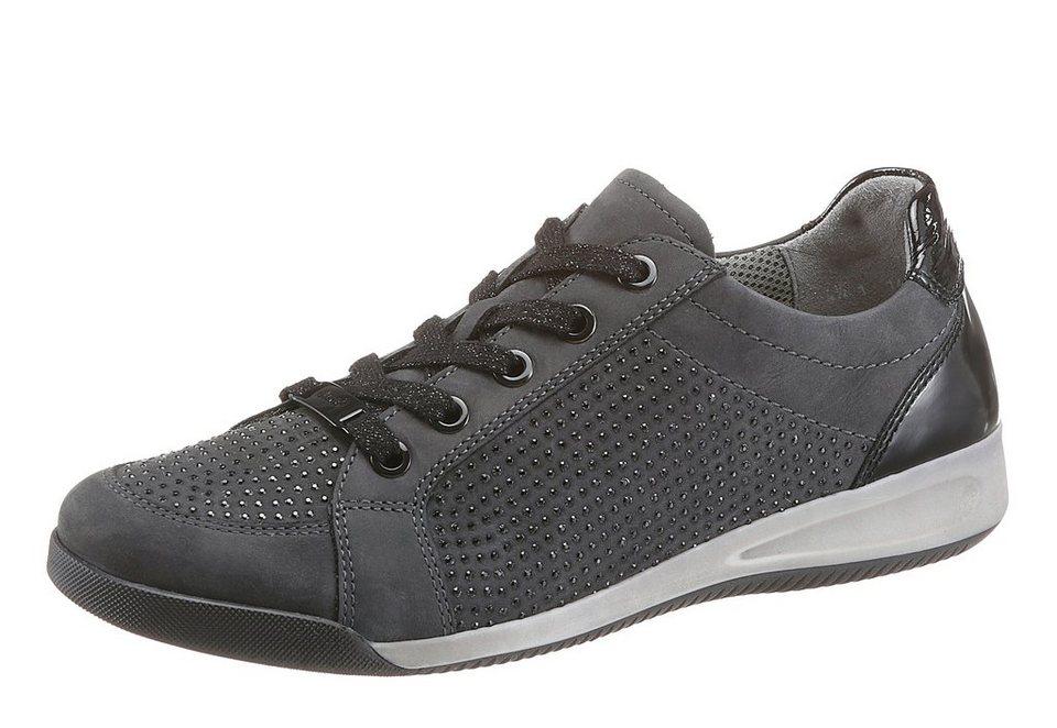 Ara Sneaker mit schönen Glitzersteinchen in anthrazit-schwarz