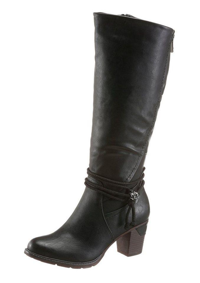 Rieker Stiefel mit regulierbarer Weite von normal bis XL in schwarz