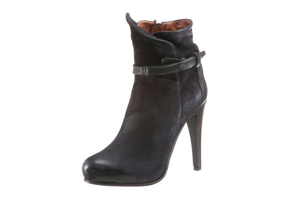 A.S.98 High-Heel-Stiefelette in schwarz