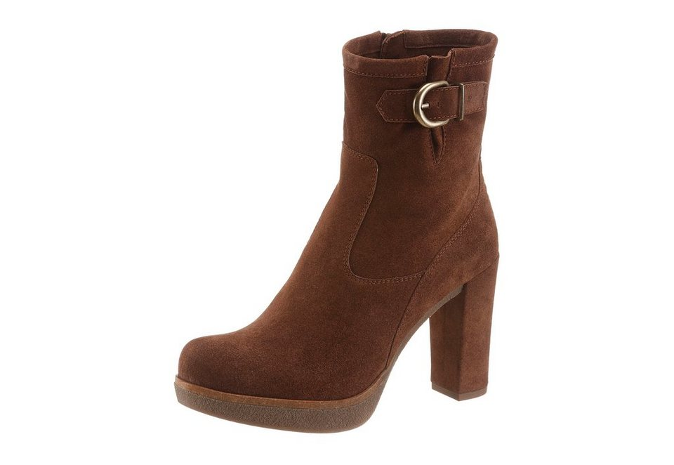 Unisa High-Heel-Stiefelette in braun