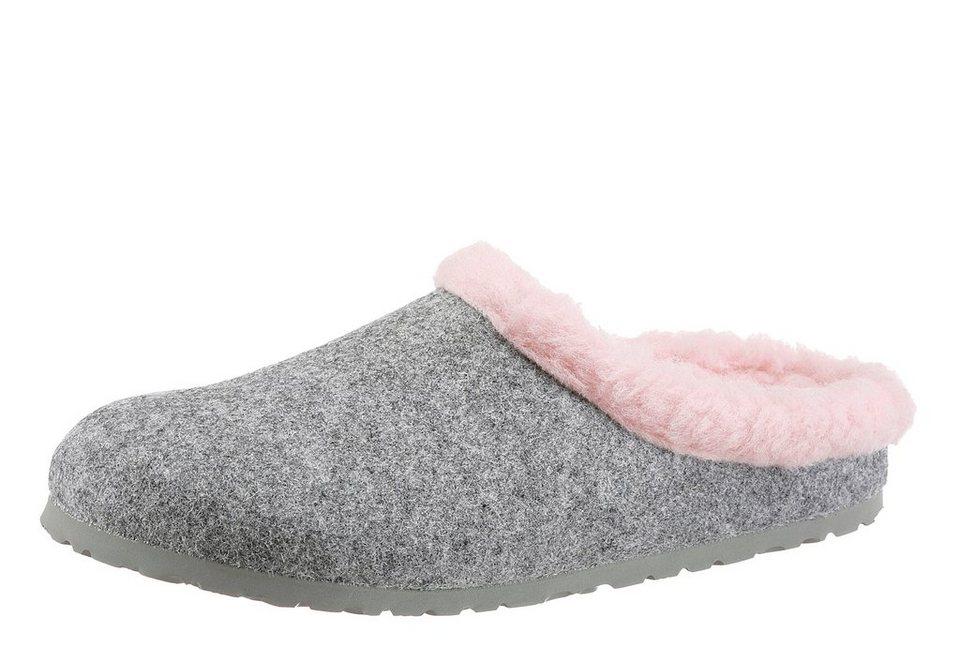 Birkenstock »KAPRUN HAPPY« Pantoffel in grau-rosa