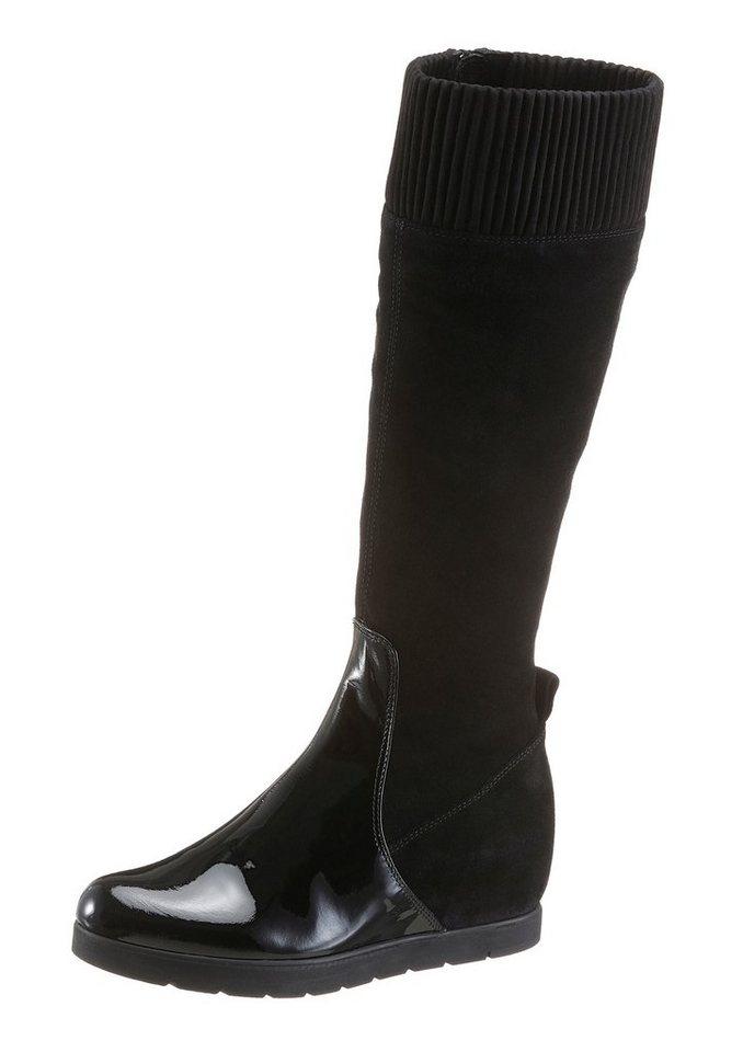 Unisa Keilstiefel mit XS-Schaft in schwarz