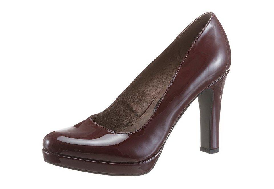 Tamaris High-Heel-Pumps in schlichtem Look in bordeaux