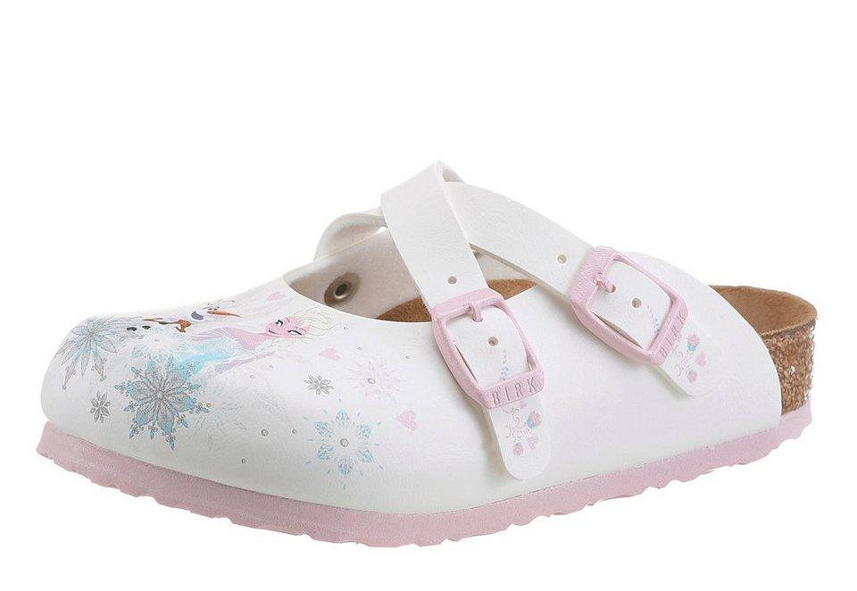 Birkenstock »DORIAN FROZEN ELSA AND OLAF WHITE« Clog frozen Elsa und Olaf in weiß-rosé