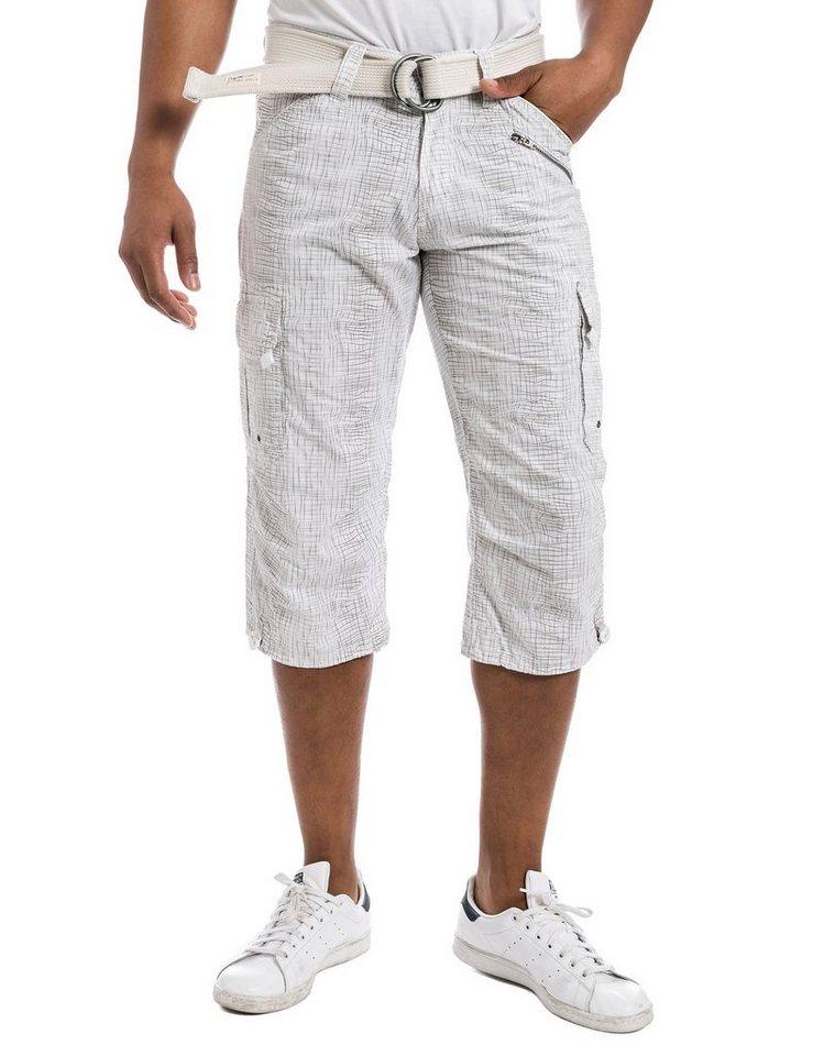 TIMEZONE Hosen kurz »MilesTZ cargo 3/4 pants incl. belt« in ure white wire chec