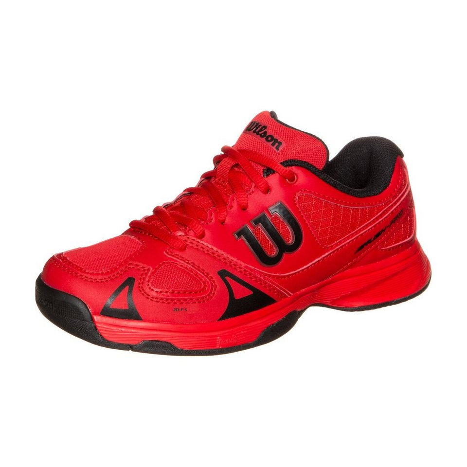 WILSON Rush Pro Tennisschuh Kinder in rot / schwarz