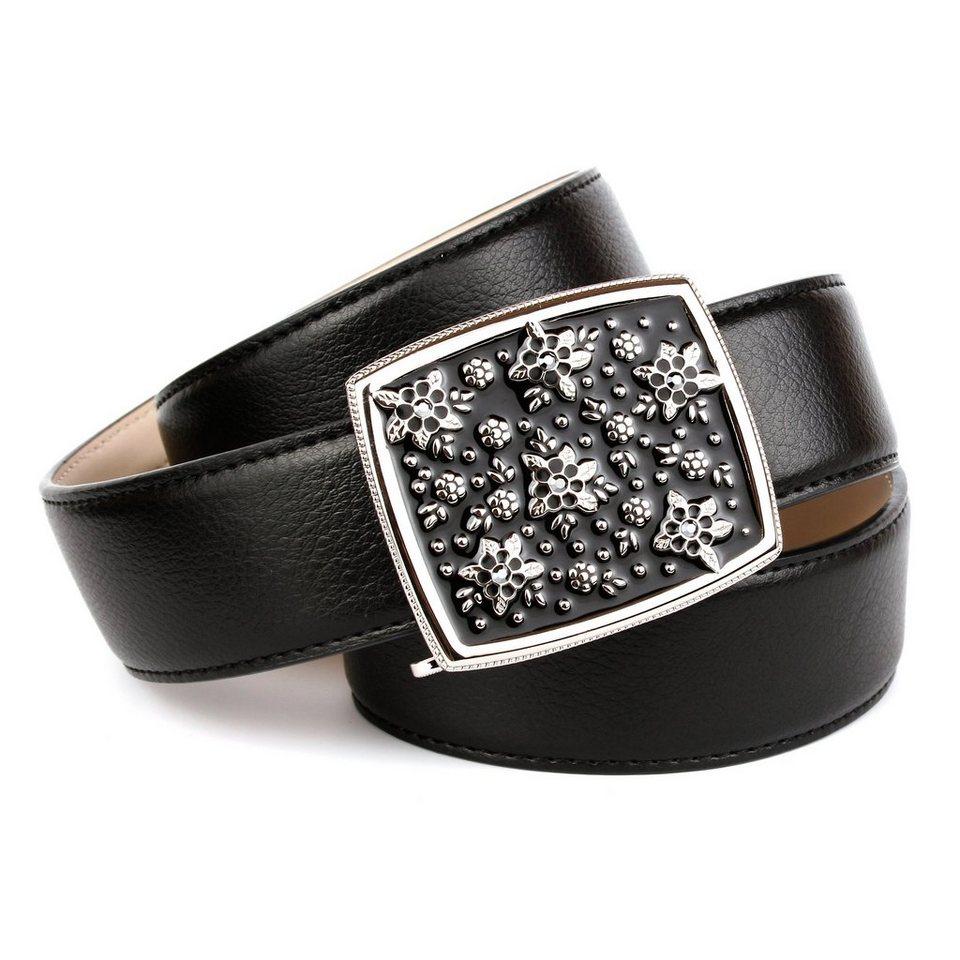Anthoni Crown Ledergürtel in Schwarz