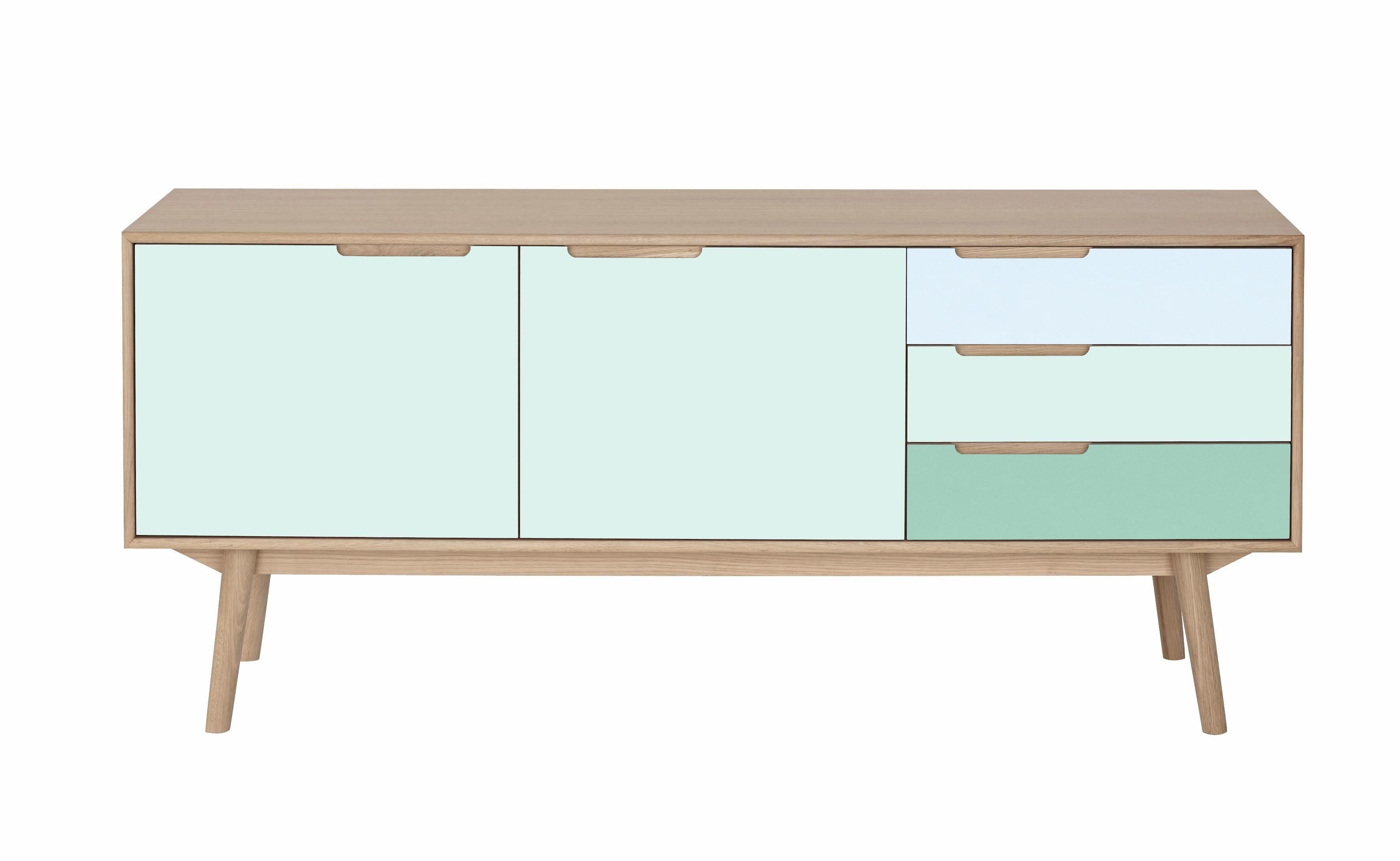 andas Sideboard »Curve« white oak, ocean green, Farbkonzept von roombeez Bloggerin Bianca
