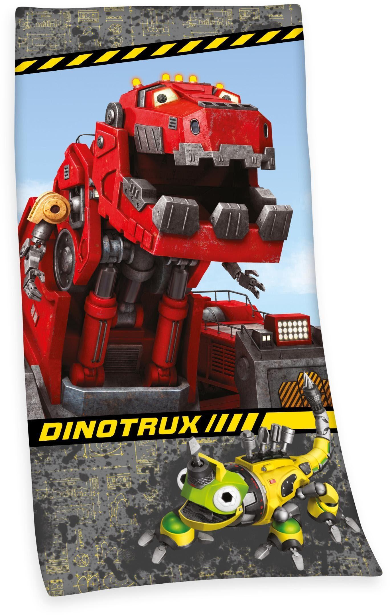 Strandtuch, »Dinotrux«, mit Ty & Revvit Motiv