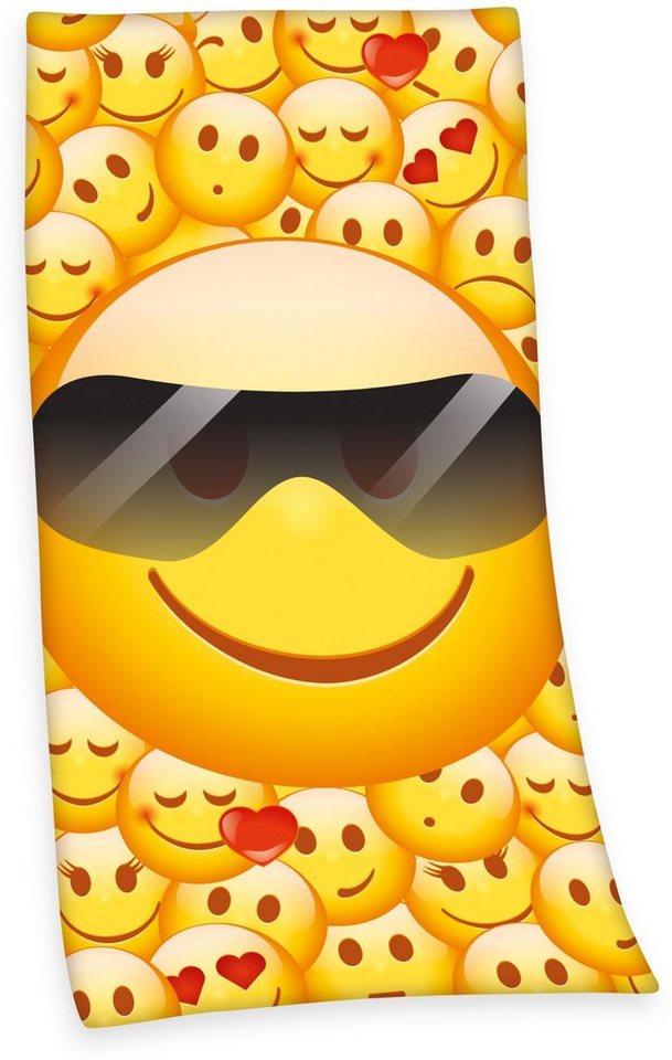 Strandtuch, Emot!x, »Sonnenbrille«, mit cooler Sonnenbrille in gelb