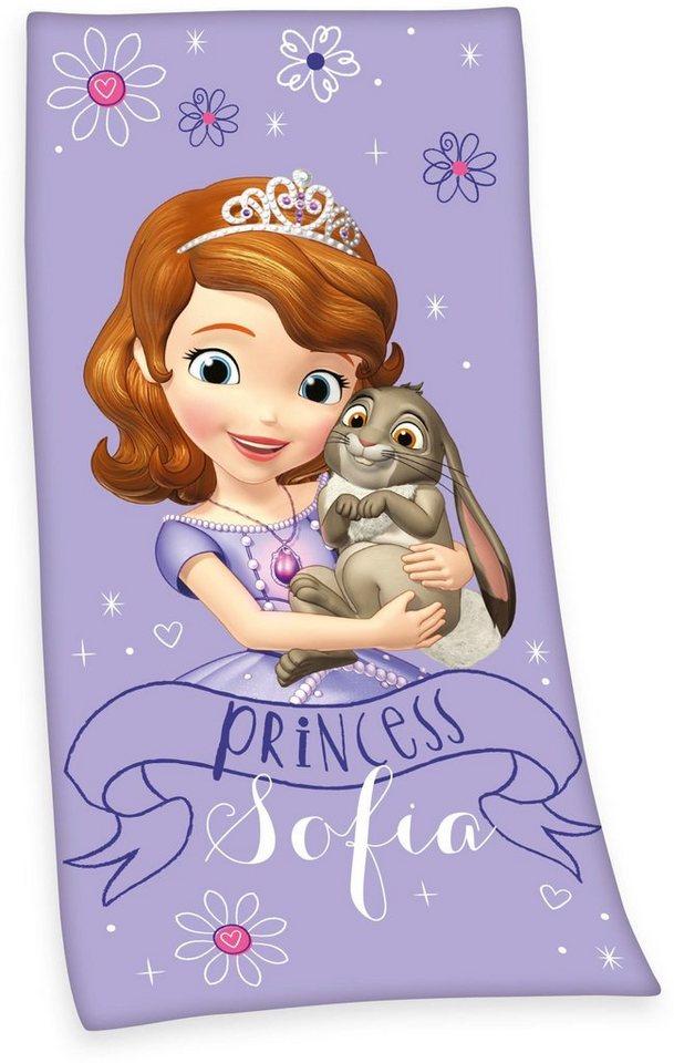 Strandtuch, Disney, »Sofia die Erste«, mit Sofia Motiv in lila
