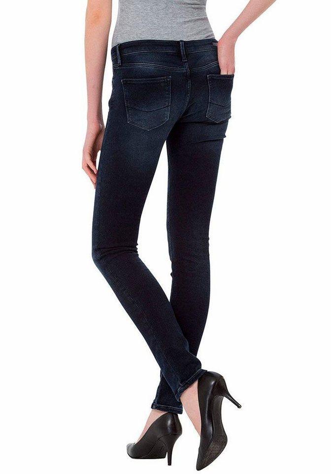 Cross Jeans® Röhrenjeans »Melissa« in Denim-Optik in blue-black-used
