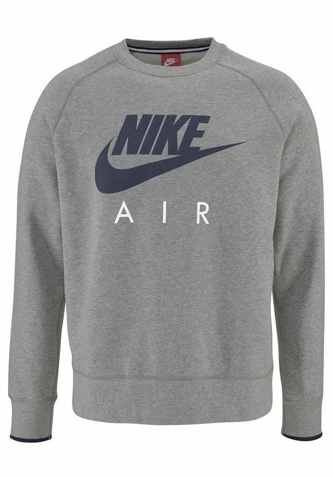 Nike AW77 FLEECE CREW-AIR HERITAGE Sweatshirt in Grau-Meliert