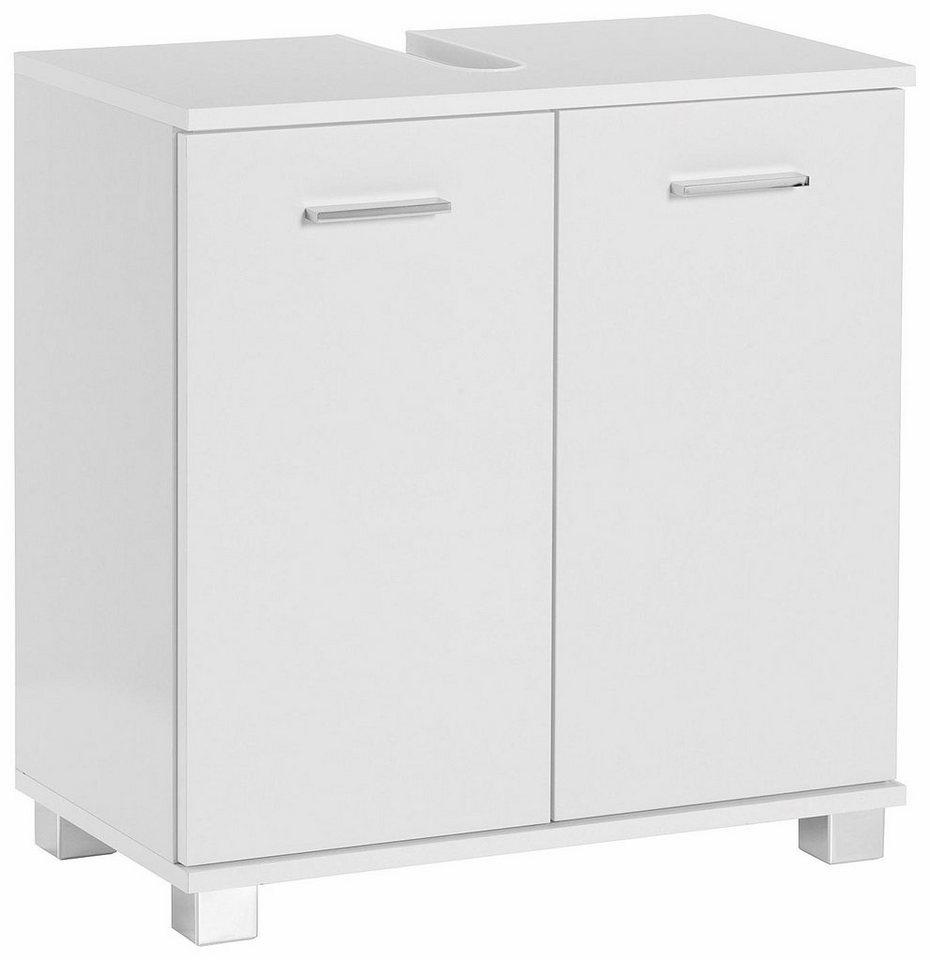 Schildmeyer Waschbeckenunterschrank »Box« in weiß-weiß