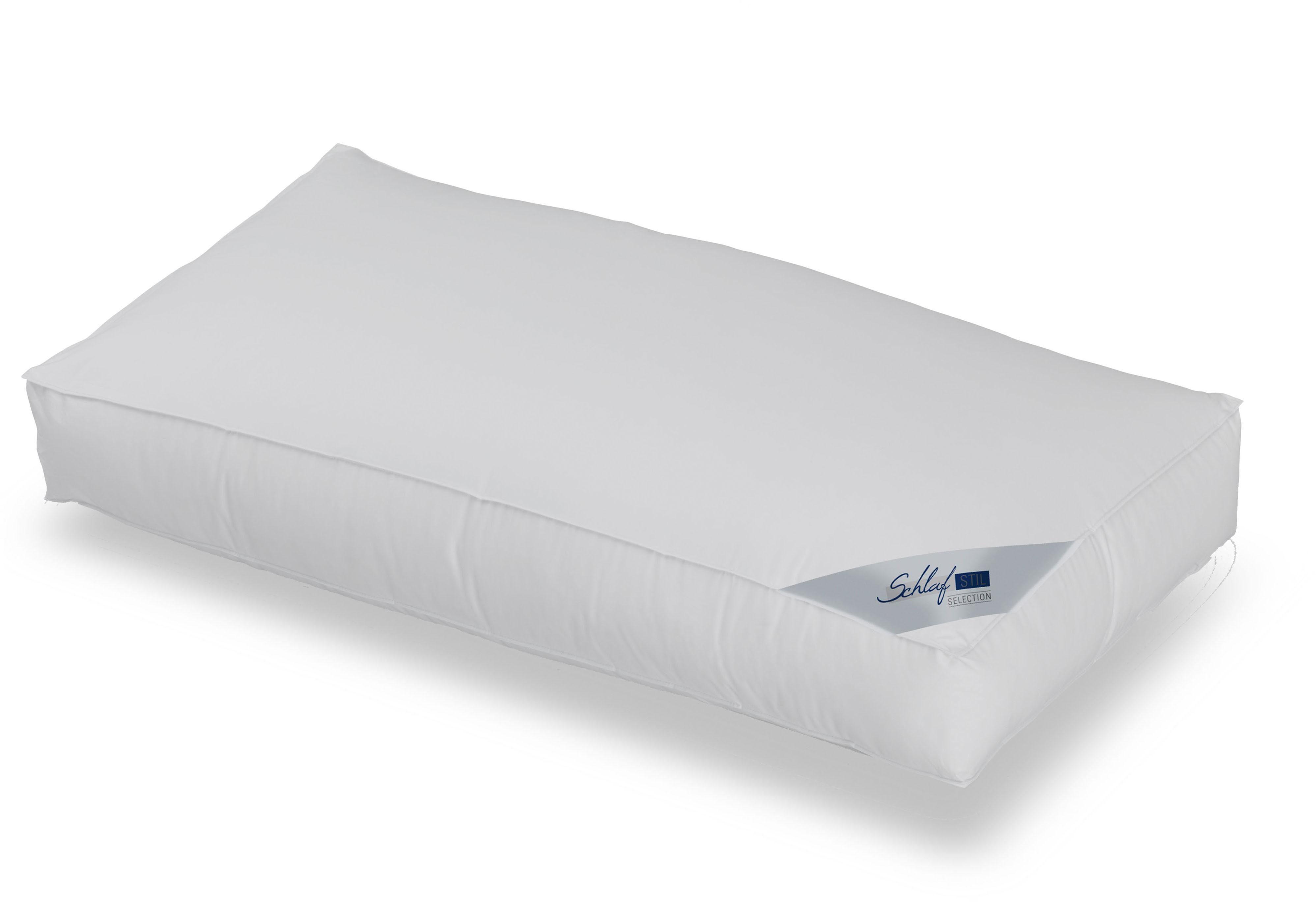 3-Kammer-Kopfkissen, »Rubin, Selection, 10 cm hoher Außensteg«, Schlafstil