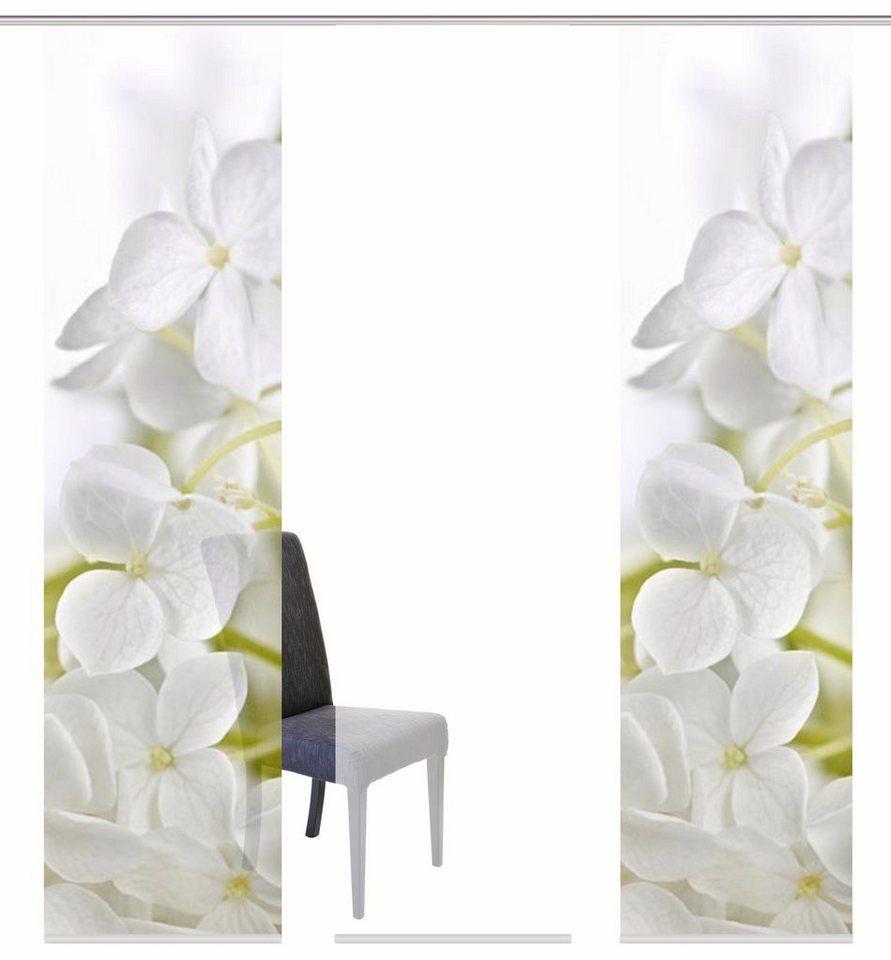 Schiebegardine, Home Wohnideen, »PADUA«, mit Klettband, Mehrfachsets (mit Zubehör) in weiß