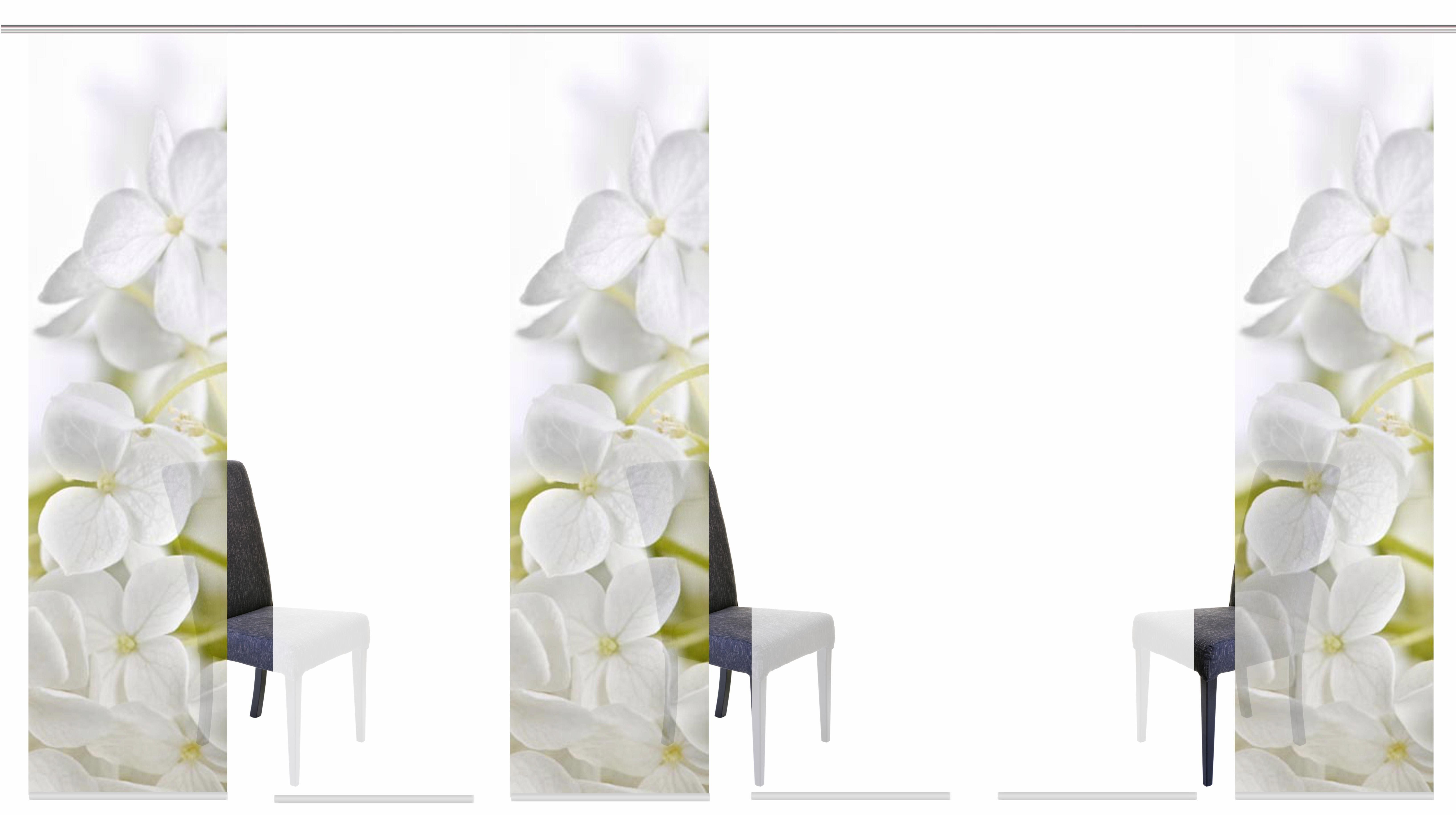 Schiebegardine »PADUA«, HOME WOHNIDEEN, Klettband (6 Stück), inkl. Befestigungszubehör