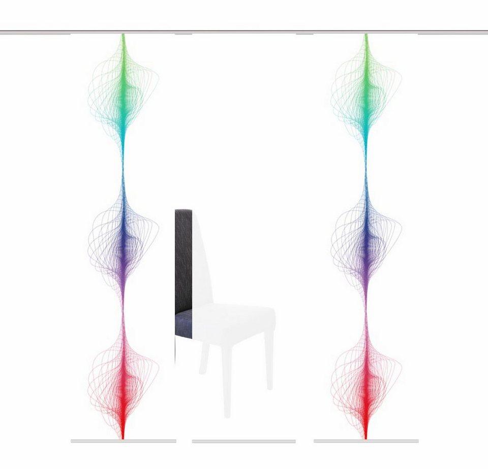 Schiebegardine, Home Wohnideen, »TOSCIA«, Mehrfachsets (mit Zubehör) in multicolor