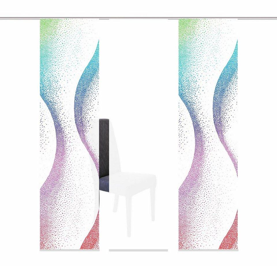 Schiebegardine, Home Wohnideen, »GALBOR«, mit Klettband, Mehrfachsets (mit Zubehör) in multicolor